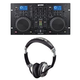 Gemini CDM-4000 DJ Media Player with Headphones