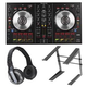 Pioneer DDJ-SB2 DJ Controller with HDJ-500 Headphones and Laptop Stand