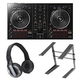Pioneer DDJ-RB DJ Controller w/ HDJ-500 Headphones and Laptop Stand