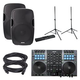 Gemini G4V 4-Ch DJ Controller with AS-15P Speaker Pack