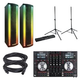 Numark NV DJ Controller & Lightwave Speakers w/ Stands