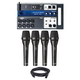 Soundcraft Ui12 Digital Mixer w/ AKG P5i Mic 4-Pack