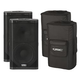 QSC KW122 12-Inch Powered Speaker Pair w/ Covers