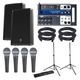Electro Voice ZLX15P Speakers & Soundcraft Ui12 Mixer w/ Stands & Mics