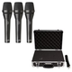 AKG P5i Dynamic Vocal Mic 3-Pack with Carry Case