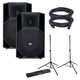 RCF ART-735-A Powered Speakers w/ Gator Stands & Cables