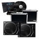 Pioneer PLX-500-K Turntables & Cases with rekordbox INTERFACE2 DVS