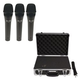 Alto ADM7 Dynamic Handheld Vocal Mic 3-Pack with Case