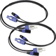 Blizzard 3 Ft PowerCon 3-Pin DMX Combo Cable Pair