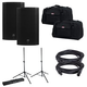 Mackie Thump15A Speakers w/ Gator Totes & Stands