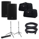 Mackie Thump12A Powered Speakers with Gator Speaker Stands & Tote Bags