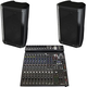 Peavey DM115 Dark Matter 15-in Powered Speakers & PV14BT Mixer