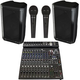 Peavey DM112 12-inch Powered Speakers w/ PV14BT Mixer & PVi 100 Mics