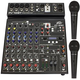 Peavey PV-10BT 8-Channel Bluetooth Mixer w/ (2) PVi 100 Mics