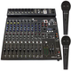 Peavey PV-14BT 12-Channel Bluetooth Mixer w/ (2) PVi 100 Mics