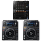 Pioneer DJM-750MK2 DJ Mixer w/ XDJ-1000MK2 Tabletop Digital Multi Player Pair