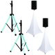 American Audio LED Light-Up Speaker Stand Pair with ADJ Scrims
