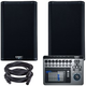 QSC K8.2 8-inch Powered Speakers w/ TouchMix 8 Mixer