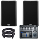 QSC K10.2 10-inch Powered Speakers with TouchMix 8 Mixer