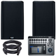QSC K12.2 12-inch Powered Speakers w/ TouchMix 8 Mixer