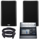 QSC K10.2 10-inch Powered Speakers w/ TouchMix 30 Mixer