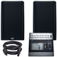 QSC K12.2 12-inch Powered Speakers w/ TouchMix 30 Mixer