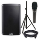 Alto TS210 10-inch Powered Speaker and ADM7 Mic w/ Speaker Stand