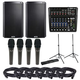 Alto TS212 Speakers & ZMX122FX Mixer w/ ADM7 Mics & Gator Stands