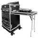 Road Ready Slant Rack 11U X 16U W/Casters, Table *