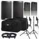 Alto TS208 Speakers & Ultimate TS-100-B Stands w/ Gator Totes