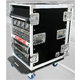 Road Ready Deluxe Rack 16U/24In Deep W/Castors   *