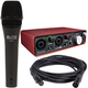 Focusrite Scarlett 2i2 USB Audio Interface w/ ADM7 Dynamic Vocal Mic