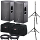 DAS Action 12A Speakers w/ Ultimate Stands & Gator Covers