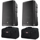 EV ELX200-12P 12-inch Powered Speaker Pair w/ Gator Totes