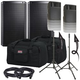 Alto TS212 Speakers & Ultimate TS-100-B Stands w/ Gator Totes