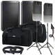 Alto TS215 Speakers & Ultimate TS-100-B Stands w/ Gator Totes