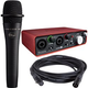 Focusrite Scarlett 2i2 USB Audio Interface w/ Blue enCore 100i Mic