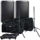 Alto TS215 15-inch Powered Speakers w/ Gator Totes & Stands