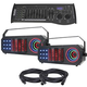 ADJ American DJ Boom Box FX3 3-in-1 LED FX 2-Pack with DMX Controller