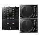 Pioneer DJM-S3 Mixer for Serato DJ & PLX1000 Turntable Pair