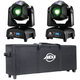 ADJ American DJ Focus Spot Two 2-Pack with Carrying Bag