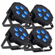 ADJ American DJ Mega Hex Par RGBWA+UV LED Wash Light 4-Pack