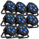 ADJ American DJ Mega Hex Par RGBWA+UV LED Wash Light 8-Pack