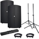 Avante A12 12-Inch Powered Speakers w/ Gator Stands