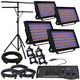 ADJ American DJ Profile Panel RGBA 4-Pack with Controller & Stand