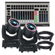 Blizzard Hypno Spot Moving Head 2-Pack with Martin DMX Controller