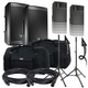 JBL EON610 Speakers & Ultimate TS-100-B Stands w/ Gator Totes