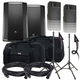 JBL Pro PRX815W 15-Inch Powered Speakers w/ Stands & Gator Totes