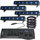 ADJ American DJ Ultra Hex Bar 6 LED Wash 4-Pack with DMX Controller