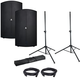 Avante A15 15-Inch Powered Speakers w Gator Stands